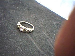 Pink Stone Lady's Stone Ring 10K Yellow Gold 2.02g