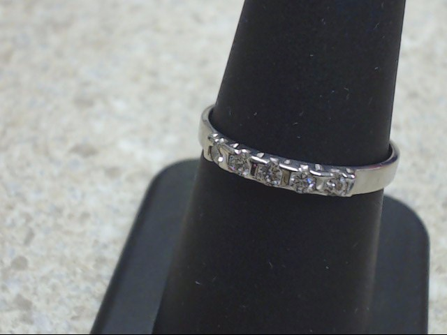 VINTAGE DIAMOND ANNIVERSARY WEDDING RING BAND SOLID 14K WHITE GOLD 8