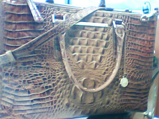 BRAHMIN Handbag TOASTED ALMOND LINCOLN SATCHEL