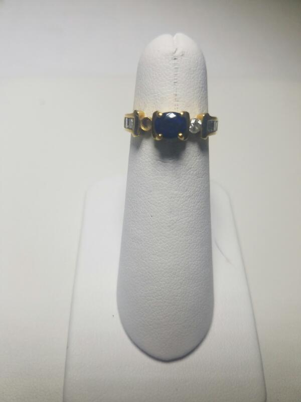 BLUE STONE(S)  FASHION RING L'S 18KT BLUE STONE(S) MISSING STONE 2.3/Y