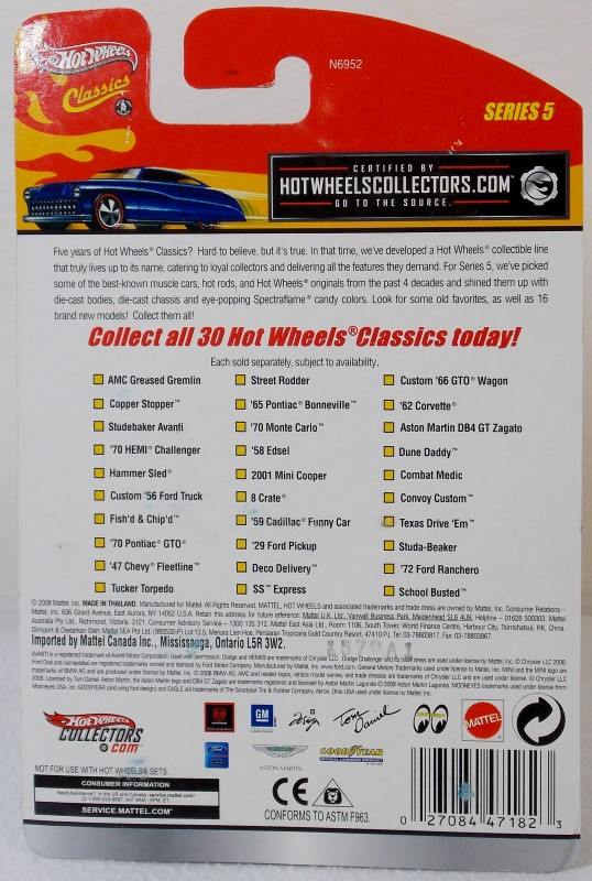 HOT WHEELS- CLASSICS: SERIES 5, INCOMPLETE SET
