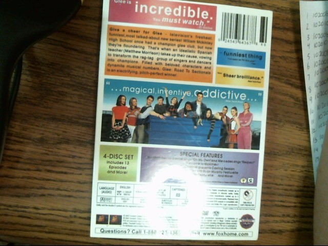 Glee Season 1 Volume 1 Road To Sectionals DVD