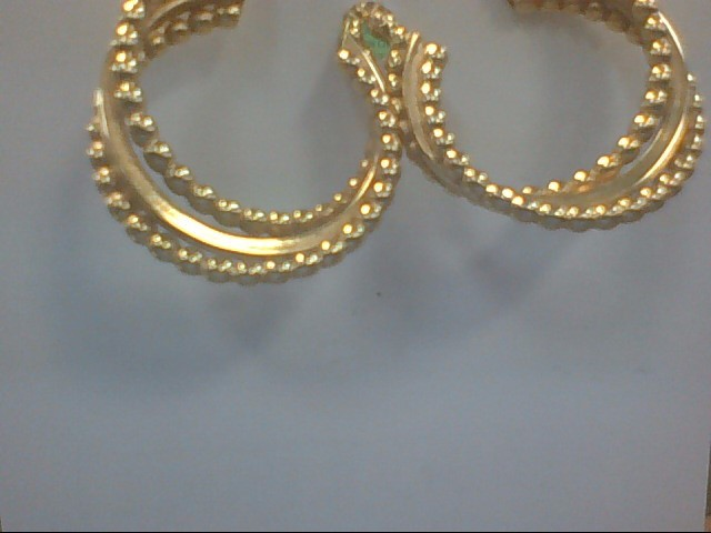 Gold Earrings 10K Yellow Gold 4.5g