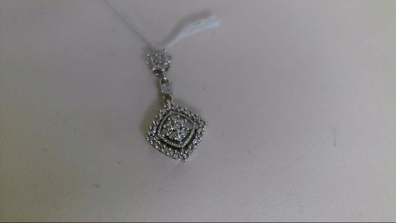 Silver-Diamond Pendant 31 Diamonds .200 Carat T.W. 925 Silver 1.5g