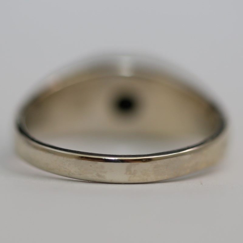 Star Sapphire Gent's Stone Ring 10K Yellow Gold 5.7g Size:10