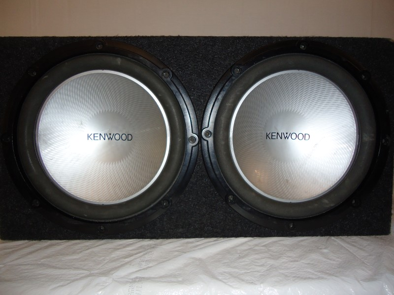 KENWOOD Car Speakers/Speaker System SUBWOOFER 2X12""