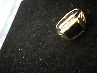Onyx Gent's Stone & Diamond Ring 10 Diamonds .30 Carat T.W. 10K Yellow Gold