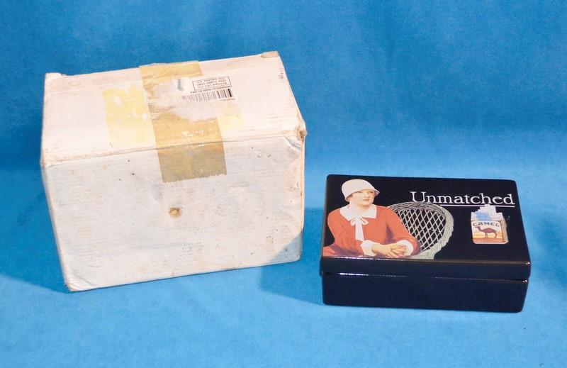CAMEL CIGARETTS Case/Humidor ceramic storage BOX