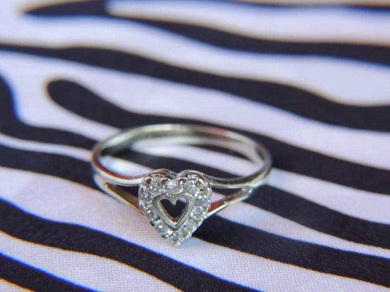 Lady's Diamond Fashion Ring 10 Diamonds .20 Carat T.W. 14K White Gold 2g