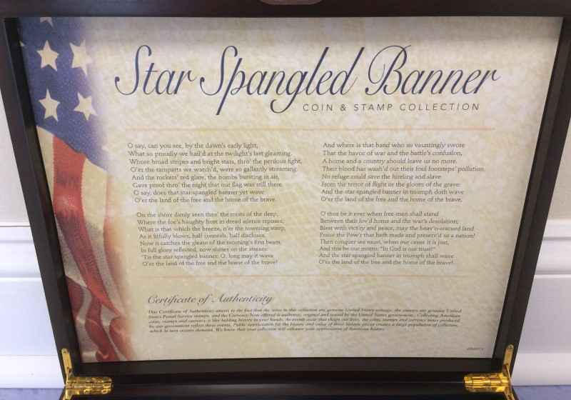 STAR SPANGLED BANNER COIN & STAMP COLLECTION