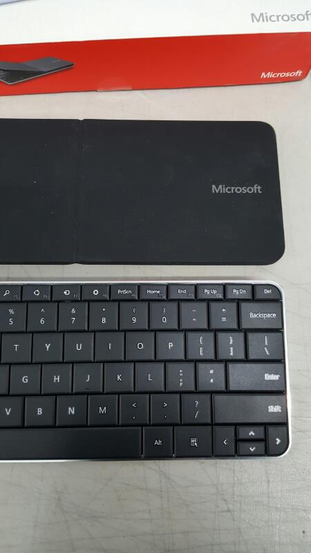 Microsoft Wedge Mobile Wireless Bluetooth Keyboard Model 1521