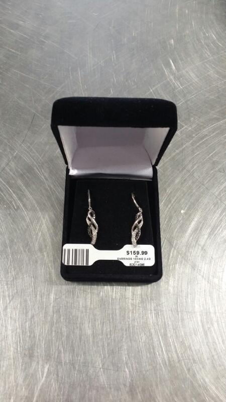 Gold Earrings 10K White Gold 2.4g