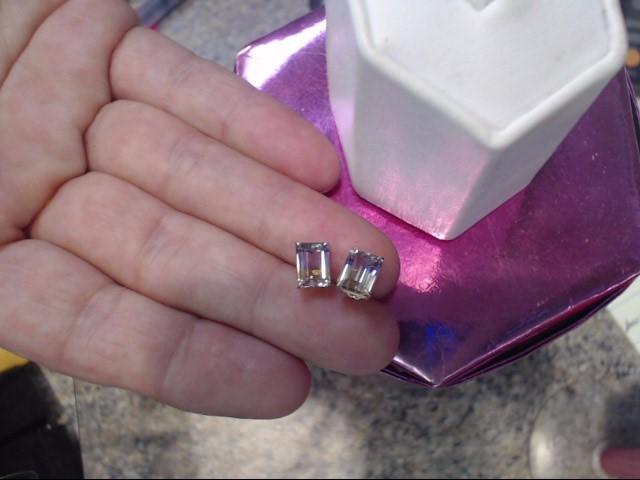 Synthetic Ametrine Gold-Stone Earrings 14K Yellow Gold 0.9dwt