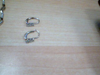 Gold-Diamond Earrings 6 Diamonds .12 Carat T.W. 14K White Gold 0.09g