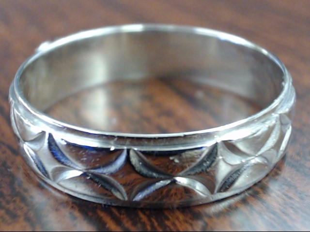 ESTATE WEDDING RING BAND SOLID REAL 10K WHITE GOLD ETERNITY DECO 12