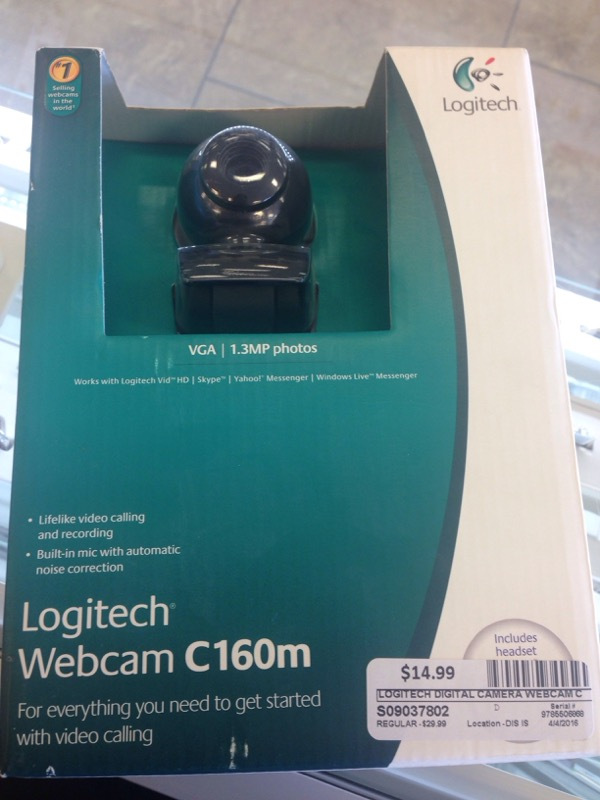 LOGITECH Digital Camera WEBCAM C160M