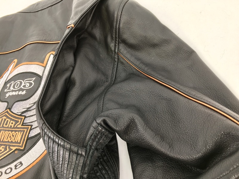 Harley Davidson Woman's (M) 105 Years 1903-2008 Leather Jacket