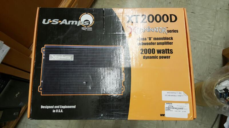 US Amps XT2000D Xterminator Monoblock 2000 Watts Class D Car Audio Amplifier