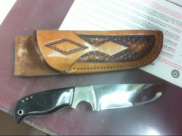 J.E. SELBURG HUNTING SKINNING KNIFE WITH FANCY SHEATH