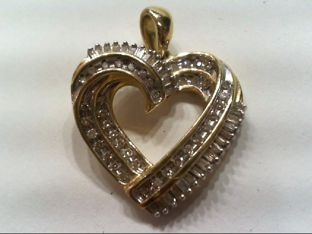 Gold-Multi-Diamond Pendant 69 Diamonds .490 Carat T.W. 10K Yellow Gold 3g