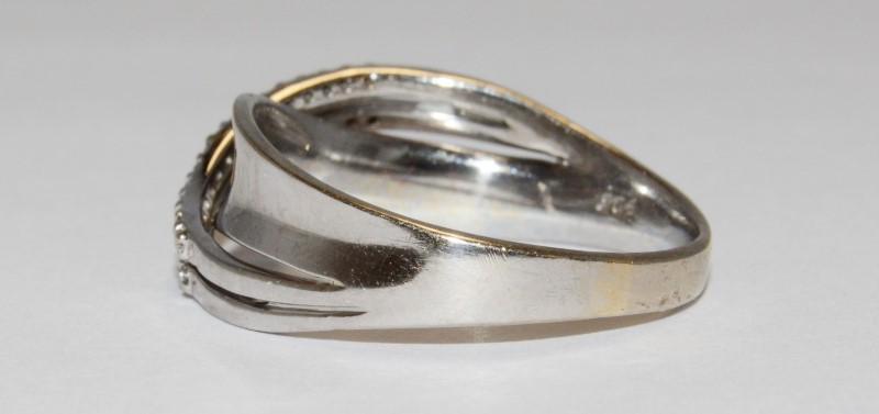 Lady's Gold Ring 10K White Gold 4g
