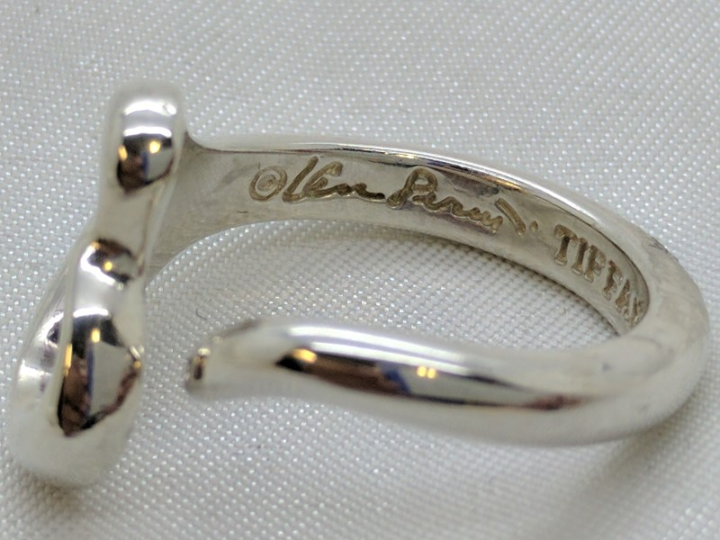 Tiffany & Co. Lady's Silver Ring 925 Silver 6.4g Size:7.8