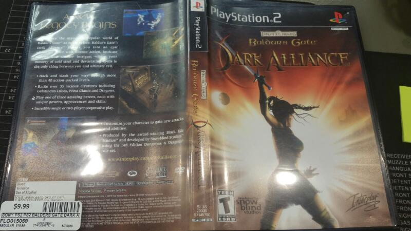 SONY Sony PlayStation 2 Game PS2 BALDERS GATE DARK ALLIANCE