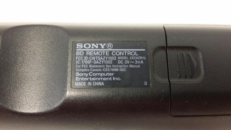 Remote Control Sony BD PS3 CECH-ZRC1U Blu-ray Media Disc Playstation