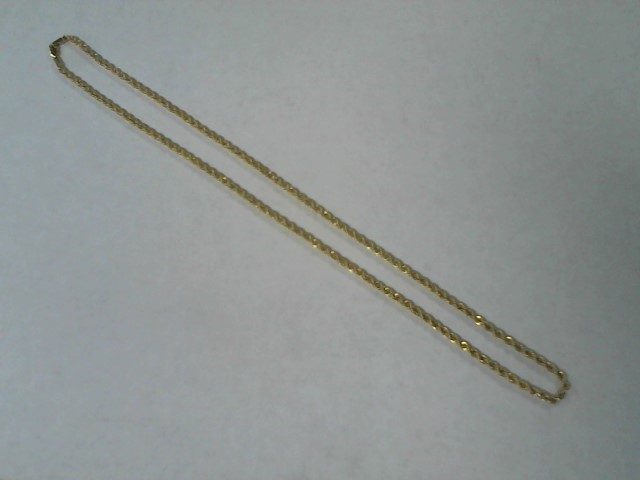 Gold Rope Chain 10K Yellow Gold 2.5g