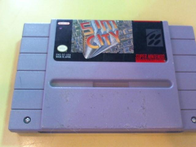NINTENDO Nintendo SNES Game SUPER NES SIM CITY