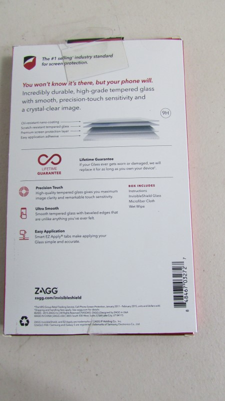 ZAGG Cell Phone Accessory INVISIBLE SHIELD GLASS FOR SAMSUNG GALAXY S6