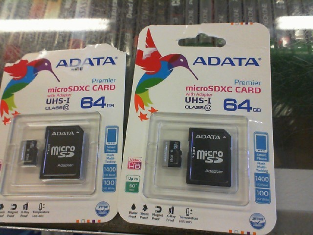 ADATA Cell Phone Accessory 64GB MICRO SD CARD