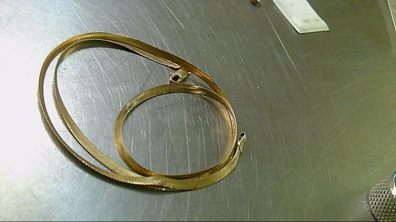Gold Herringbone Chain 14K Yellow Gold 6.1g