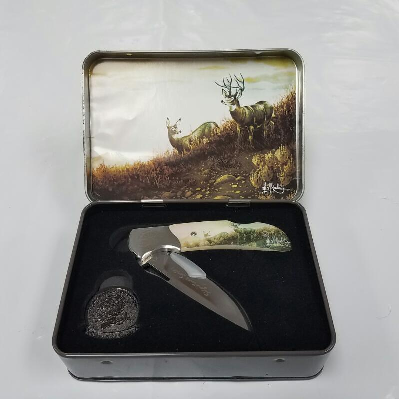 "North American Hunting Club ""Mule Deer Country"" Collectible Pocket Knife"