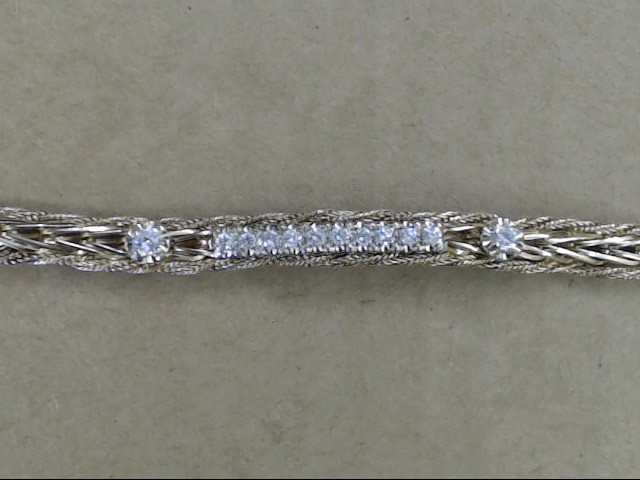 "7"" 5.8mm NATURAL DIAMOND .44 TCW TENNIS BRACELET REAL 14K GOLD 12.4g"