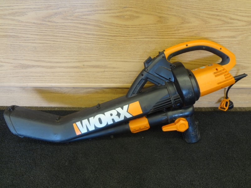 WORX WG500 TRIVAC 12 AMP ALL-IN-ONE ELECTRIC BLOWER-MULCHER-VACUUM *MISSING BAG*