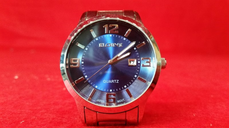Elgin PC32 Large Blue Dial Men's Watch