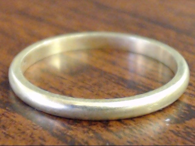 VINTAGE CLASSIC PLAIN WED RING BAND SOLID REAL 14K GOLD 1.8MM SIZE 6