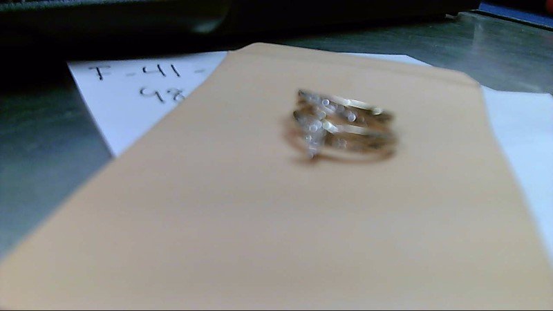 Lady's Diamond Wedding Set 11 Diamonds .70 Carat T.W. 14K Yellow Gold 9.2g