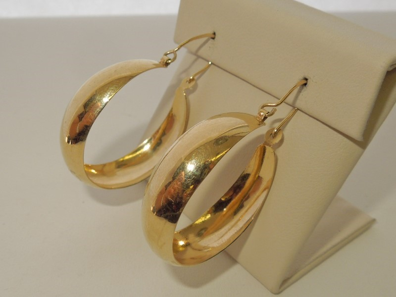 Gold Earrings 14K Yellow Gold 7.1g