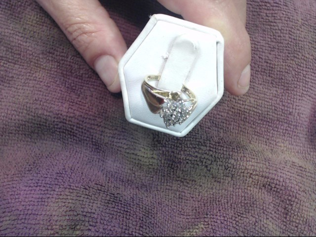 Lady's Diamond Cluster Ring 19 Diamonds 1.00 Carat T.W. 10K Yellow Gold 2.2dwt