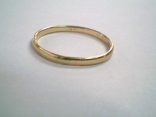 Lady's Gold Wedding Band 14K Yellow Gold 1g Size:5