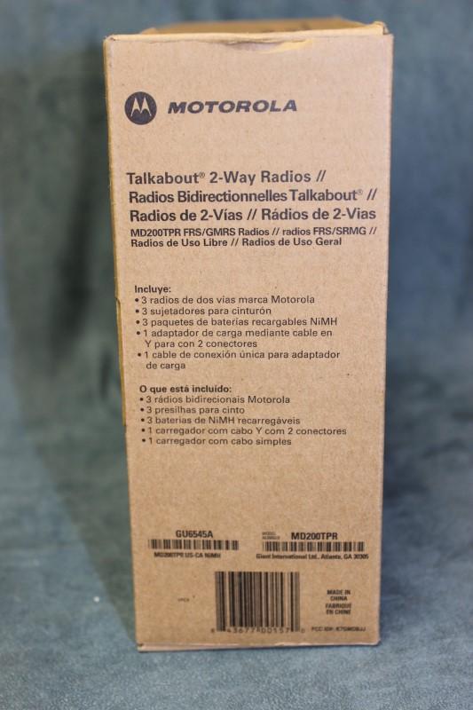 Motorola Talkabout 2-Way Radios - Model# MD200TPR