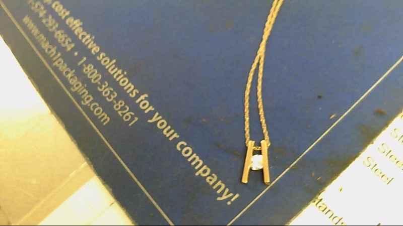 Diamond Necklace .40 CT. 14K Yellow Gold 3.9g
