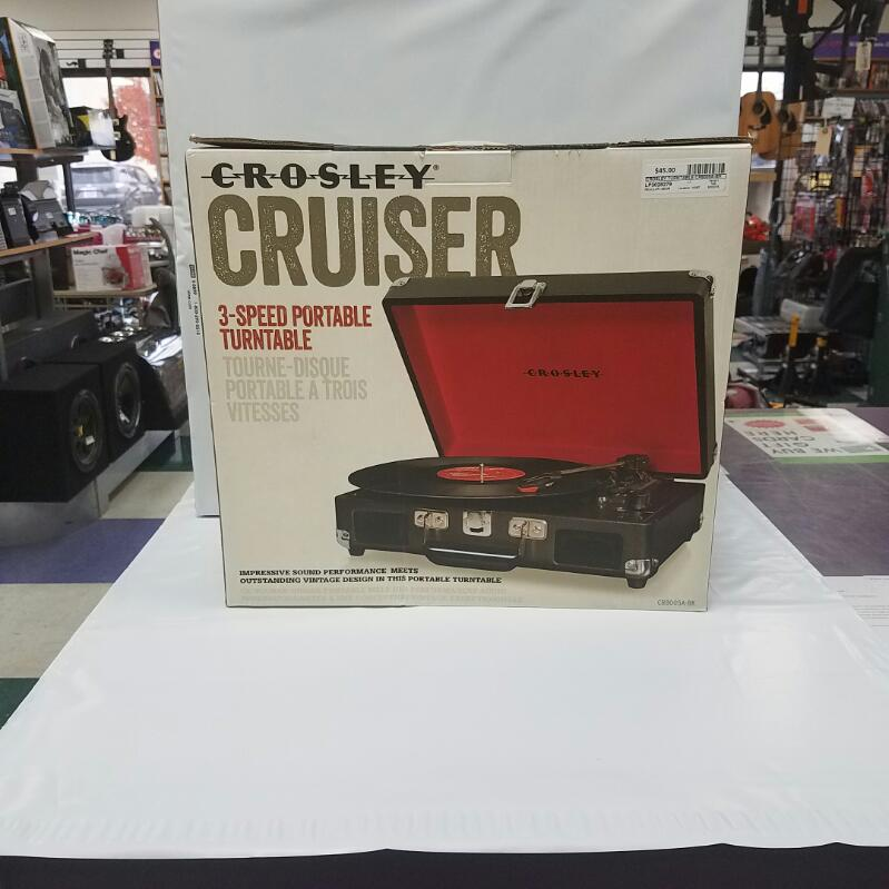 Crosley Cruiser Portable 3-Speed Turntable Record Player CR5005A-BK