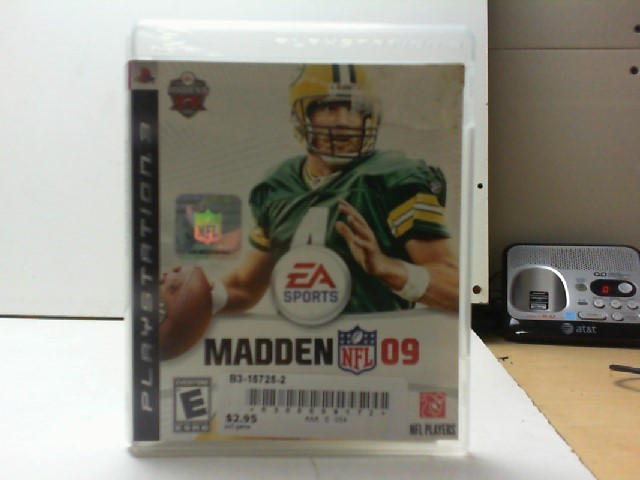 SONY Sony PlayStation 3 Game MADDEN NFL 09