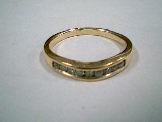 Lady's Diamond Fashion Ring 9 Diamonds .27 Carat T.W. 10K Yellow Gold 3.5g