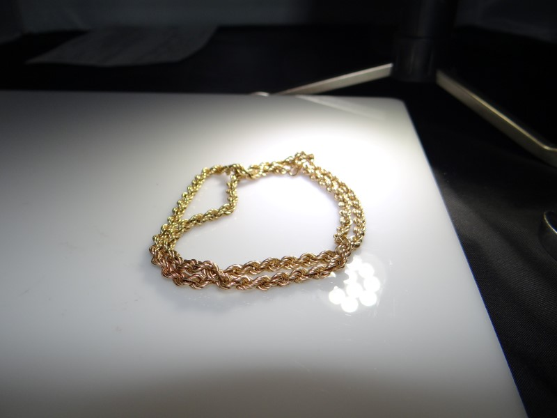 """18"""" Gold Rope Chain 10K Yellow Gold 9.8g"""