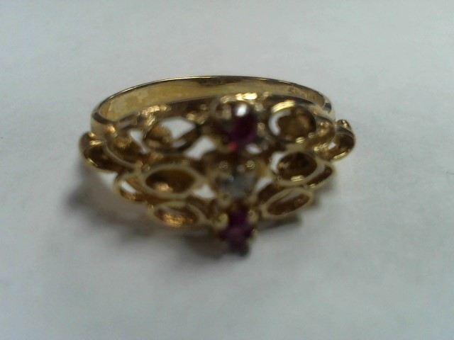 Lady's Gold Ring 14K Yellow Gold 1.5g