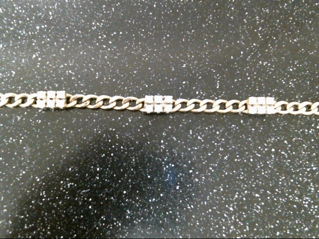 Gold-Diamond Bracelet 18 Diamonds .90 Carat T.W. 14K Yellow Gold 10.3g